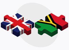 United Kingdom and Vanuatu Flags Stock Illustration