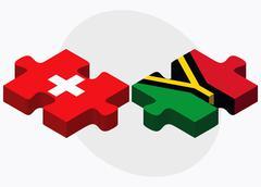 Switzerland and Vanuatu Flags - stock illustration
