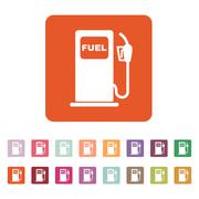 The gas station icon. Gasoline and diesel fuel symbol. Flat Stock Illustration