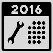 2016 Service Appointment Icon - stock illustration