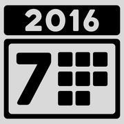 Stock Illustration of 2016 Week Organizer Icon