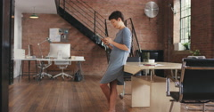 Stylish Asian Business woman using digital tablet in boardroom Stock Footage