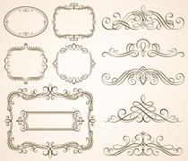 Stock Illustration of Decorative Calligraphic Frames II