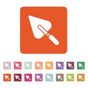The trowel icon. Mason and building, repair, plasterer symbol. Flat - stock illustration