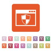Stock Illustration of The antivirus icon. Firewall and safety, protection, website symbol. Flat