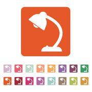 Stock Illustration of The table lamp icon. Reading-lamp and lighting, illumination, light symbol. Flat