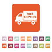 The free shipping icon. Delivery and transportation, transit symbol. Flat - stock illustration