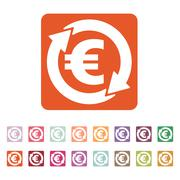 The currency exchange euro icon. Cash and money, wealth, payment symbol. Flat - stock illustration