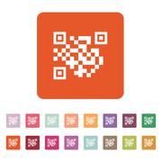 Stock Illustration of The QR code icon.  Link and URL symbol. Flat