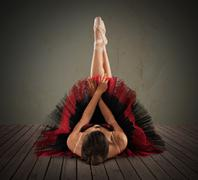 Pose classical  dancer Stock Photos
