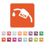 The gas station icon. Gasoline and diesel fuel symbol. Flat - stock illustration