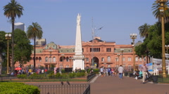 Buenos Aires May Square with house of government in the background Stock Footage