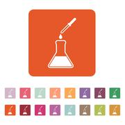 The chemistry icon. Test and analysis, genetics, laboratory, biology symbol - stock illustration