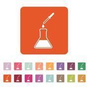 The chemistry icon. Test and analysis, genetics, laboratory, biology symbol Stock Illustration