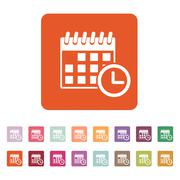 The calendar icon. Reminder and event, time symbol. Flat Stock Illustration