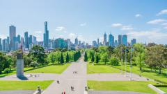 4k timelapse video of skyline in Melbourne, Australia Stock Footage
