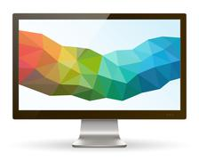 Wide Screen Computer Monitor III - stock illustration