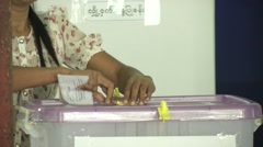 Stock Video Footage of Myanmar Election Day Voting