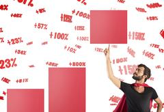 Raise the percentage of profit Stock Photos