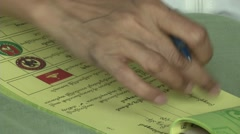 Myanmar Election Day Voting Stock Footage
