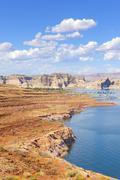 Powell Lake in Glen Canyon National Recreation Area, USA. Stock Photos