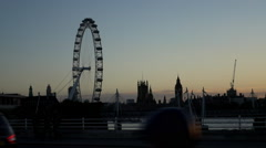 Silhouette of London skyline - Extreme Slow Motion 240fps Arkistovideo