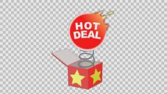 Hot Deal out of the box. Animated element with Alpha channel . Stock Footage
