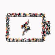 people form battery charge - stock illustration