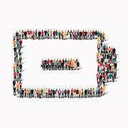People form battery charge Stock Illustration