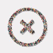 Stock Illustration of group  people form  checkmark