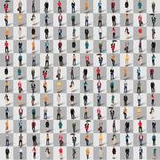 Stock Illustration of group  people  shape man chess