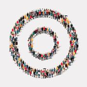 Group  people shape   circle Stock Illustration