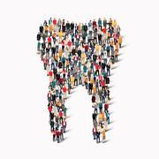 Stock Illustration of people  shape  tooth dental