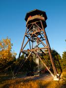 Wooden lookout tower - stock photo