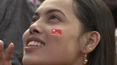 Myanmar Election Celebrations Stock Footage