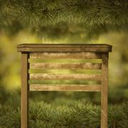The Signboard in the green pine tree - stock photo