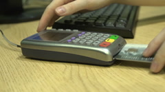 Credit Card. Payment of Purchase Stock Footage