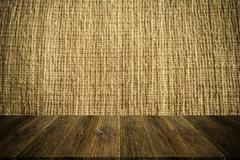 Wood terrace and Fabric texture vintage style - stock photo