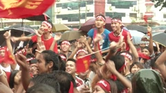 Myanmar Election Celebrations Stock Footage