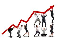 Working together for growth Stock Photos