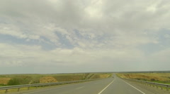 Clouds over the road. The path from Dubovskoe village Stock Footage