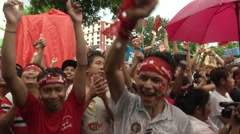 Myanmar Election Celebrations - stock footage