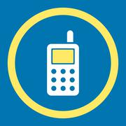 Cell Phone Rounded Vector Icon Stock Illustration