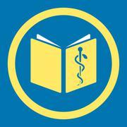 Drug Handbook Rounded Vector Icon - stock illustration