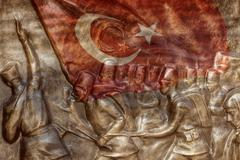 Great Turkish flag - stock photo