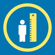 Height Meter Rounded Vector Icon - stock illustration