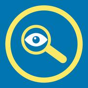 Investigate Rounded Vector Icon - stock illustration
