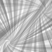 Grey twisted ray pattern background Stock Illustration