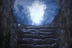 Gates to heaven light - stock photo
