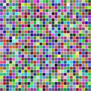 Stock Illustration of Multicolor square pixel mosaic background